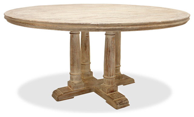 Lexington Round Dining Table White 72 Diameter Rustic Dining Tables