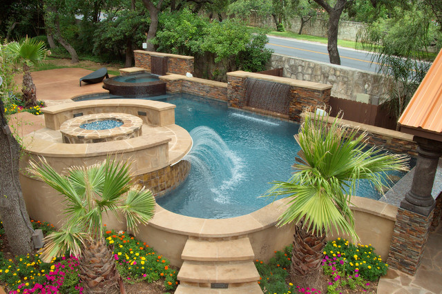 Luxury Backyards  Traditional  Pool  austin  by Cody Pools, Inc