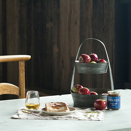 Tiered Tin Basket in Home Shop Décor Vases & Objects at Terrain traditional-storage-and-organization