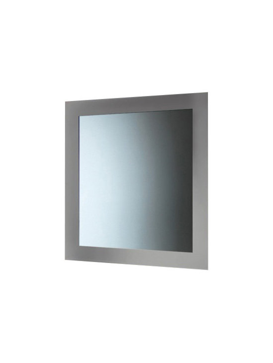 Gedy - Silver Horizontal or Vertical Mirror With Frame - A designer vanity mirror for your high-end master bath.