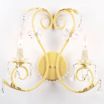 Maura Daniel Double Lulu Sconce Butter eclectic-kids-lighting