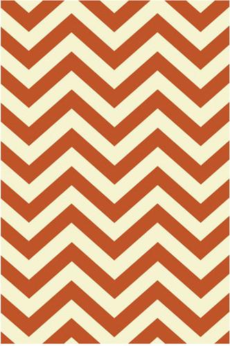Orange Herringbone Rug modern-rugs