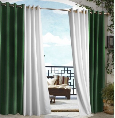 Outdoor Decor Gazebo Grommet Outdoor Curtain Panel traditional-curtains