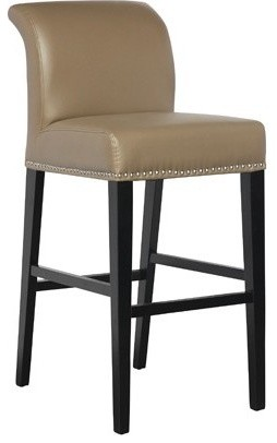 Counter Height Leather Bar Stools : Taupe Leather Counter Height Stool - Contemporary - Living Room Chairs ...