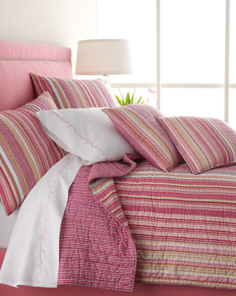 Small Talk Bed Linens Striped Standard Sham traditional sheet sets