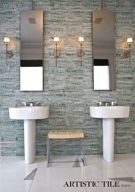 Artistic tile modern tile san diego by b d g design group - Bathroom design san diego ...