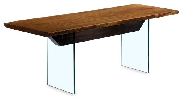 Glass Base Desk Eclectic Dining Tables Denver By Mori Furniture Design