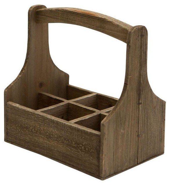 Pre-owned Wooden Bottle Carrier - Farmhouse - Wine Racks - by Chairish