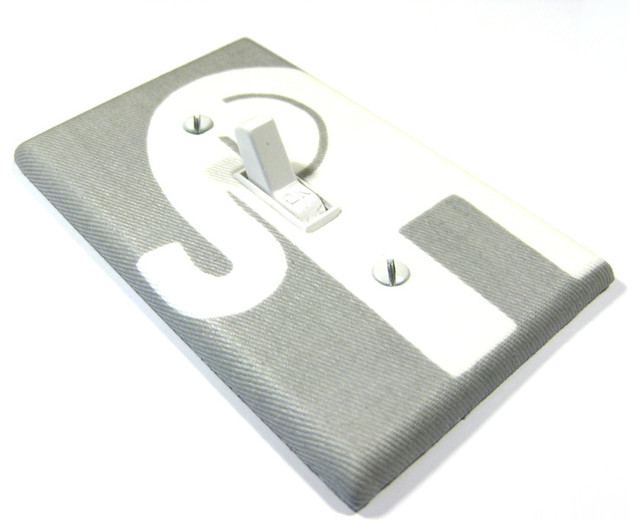 Gray And White Elephant Light Switch Cover Modern