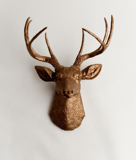 Wall Decoration Deer Head : The bennett faux taxidermied deer head by white