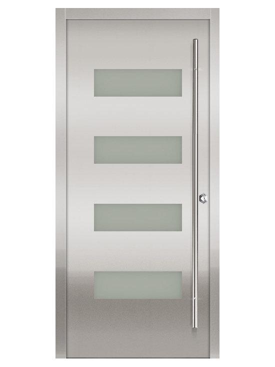 Milano-14 Stainless Exterior Door -