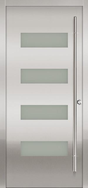 Milano-14 Stainless Exterior Door - Modern - Front Doors - other metro - by Milano Doors