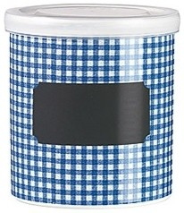 Blue square jar  food containers and storage