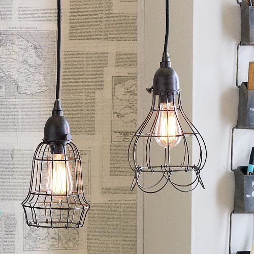 Wire Pendant Lights eclectic pendant lighting