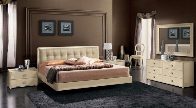 Made in Italy Leather Contemporary Master Bedroom Designs - modern ...
