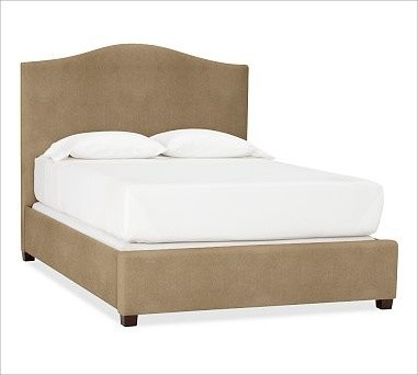 Raleigh Camelback Bed, Queen, everydaysuede(TM) Light Wheat traditional-beds