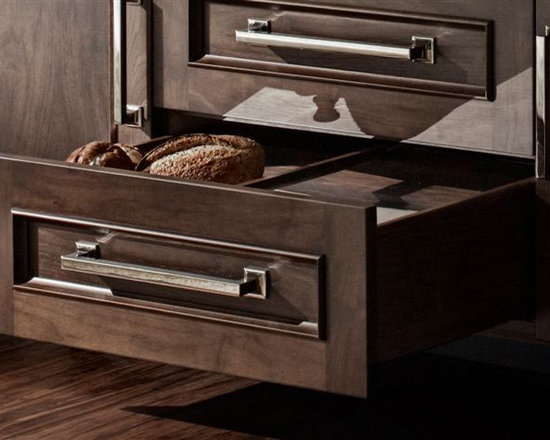 Trish Namm - Walnut Bread Drawer - by Quality Custom Cabinetry - Available through Kent Kitchen Works