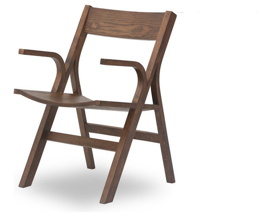 Bryght - Nes Cocoa Wood Dining Armchair - The Nes dining armchair is an award winning, graceful bentwood design made from molded plywood, expertly veneered in hardwood. The Nes dining armchair perfectly brings together simplistic elegance with its smooth lines and a strong and sturdy sculptural design.