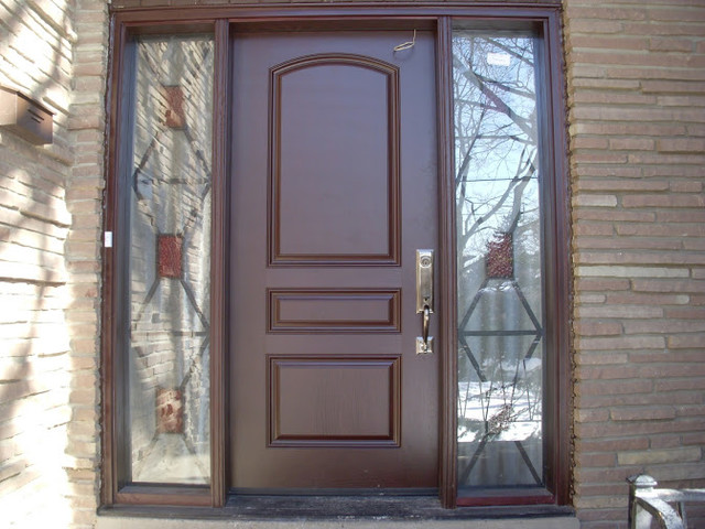 Traditional front entry doors