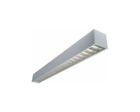 Texas Fluorescents - Texas 4-ft 57W LED Surface Mount Linear Fixture - Specification grade, modular linear lighting luminaire in a geometric 6 inch shape.For use in indoor applications where individual or continuous lighting is desired for general or perimeter lighting applications.. Surface mount configurations allow direct light only, indirect light only or direct light with uplight through slots.