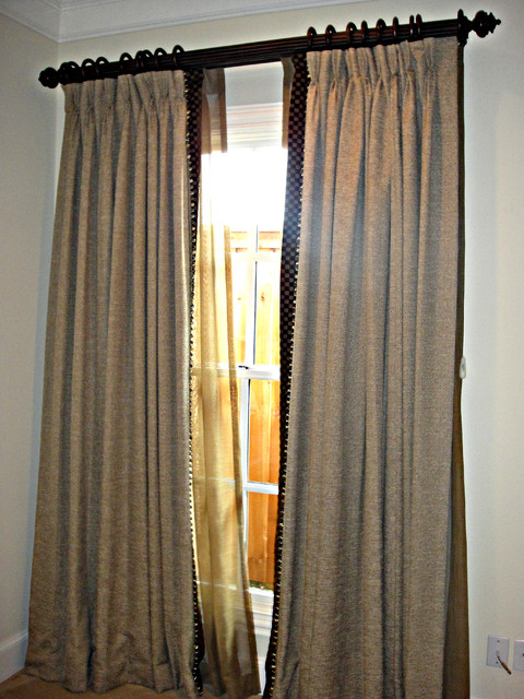 Residential interiors curtains