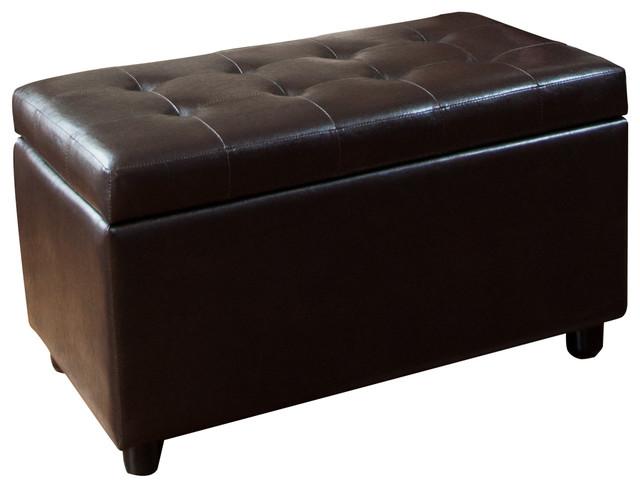 Cosmopolitan Medium Rectangular Brown Faux Leather Storage