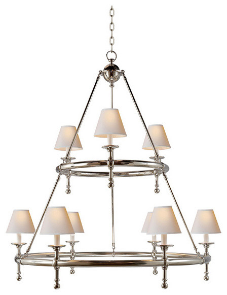 Classic Two-Tier Ring Chandelier traditional-chandeliers