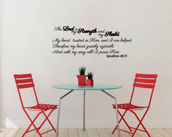 Vinyl Decal Psalms Bible Quote Lord Strength Shield Home Wall Art Decor Removabl -