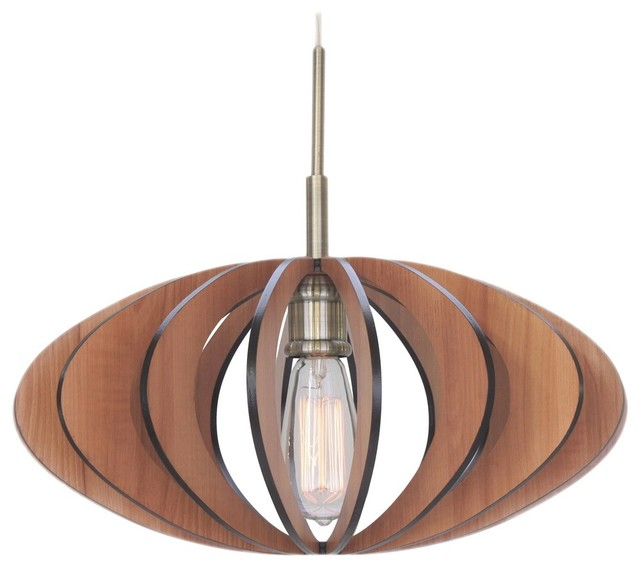 Canopy light aqua tech wood slat mini pendant classic