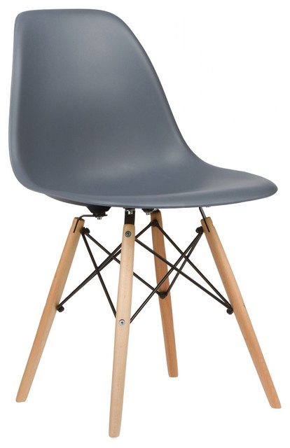 Eames style dsw accent side chair natural legs set of 2 for Eames nachbildung