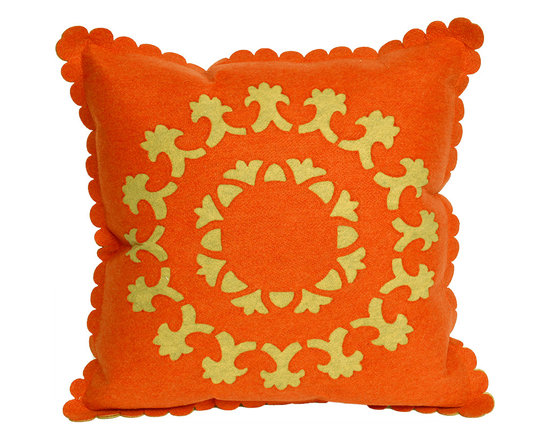 Liora Manne Suzanie Orange Throw Pillow