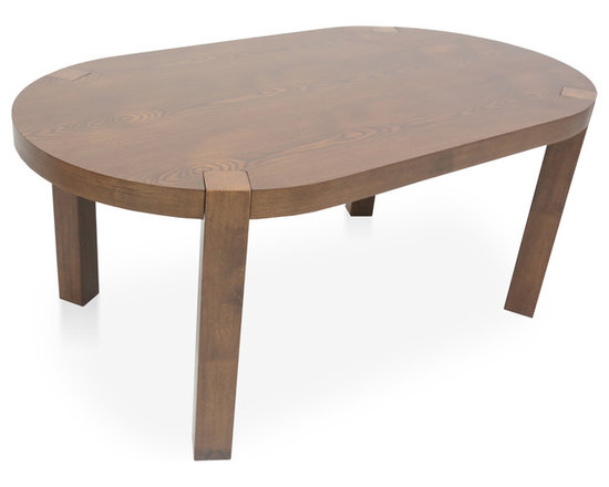 Bryght - Bahram Oval Dining Table - The Bahram oval dining table exhibits strength with class. A beautifully grained wooden top in ash veneer adds to its aesthetics while thick solid wood legs gives this piece stability.