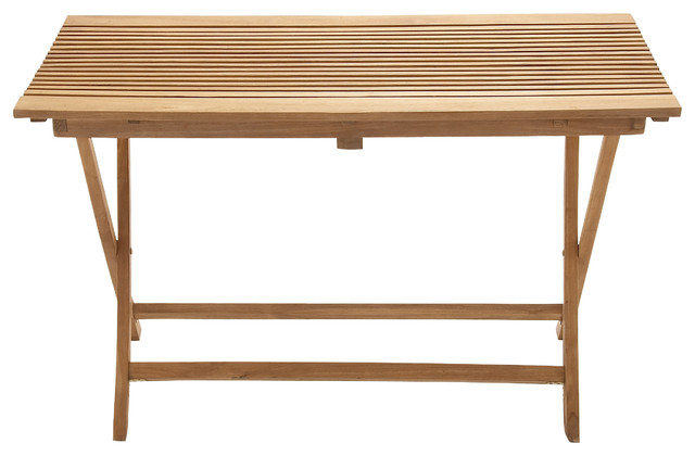 portable spacious wood teak large folding table