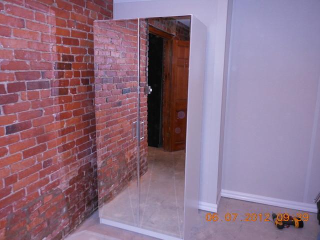 Alta Mirrored Wardrobe Closet contemporary-furniture