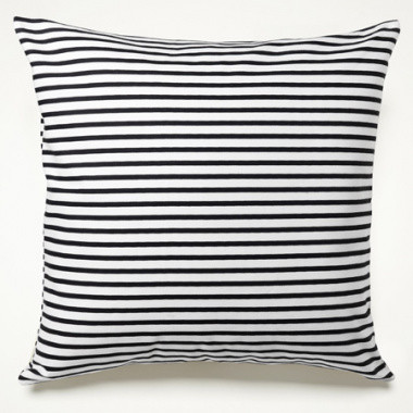 Sailor Charcoal Stripe Pillow modern pillows