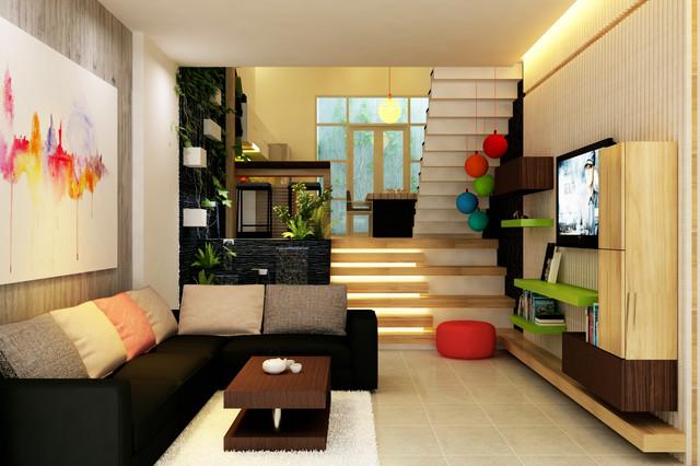 nhà phố contemporary-rendering