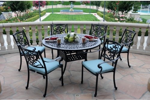 Cast aluminum patio dining sets patio design ideas for Outdoor tables and chairs for sale