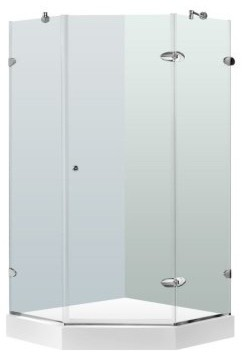 Vigo VG606142W 42.125W x 78.71H in. Clear Glass Shower Enclosure with Base modern-showerheads-and-body-sprays