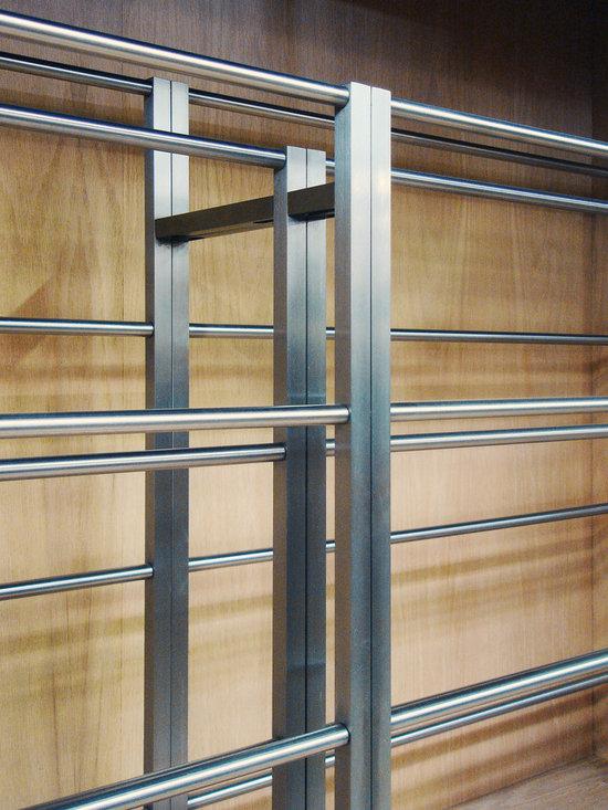 Custom Modern Wood Wine Cabinet -