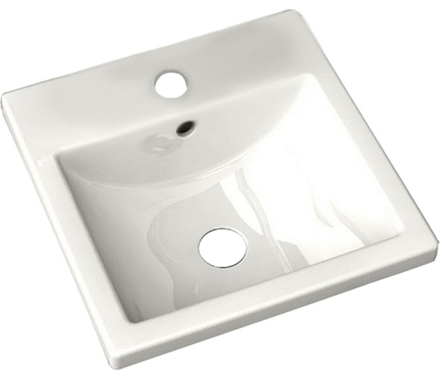 American Standard 0642.001.020 Studio Countertop Sink, White modern-bathroom-sinks