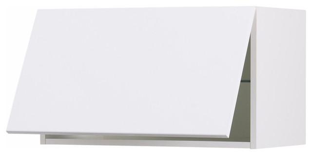 Akurum horizontal wall cabinet, Abstrakt high gloss white - Scandinavian - Kitchen Cabinetry ...