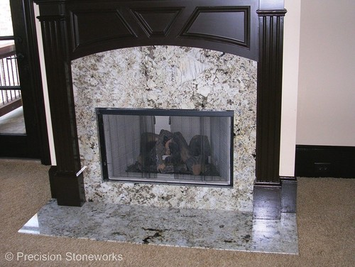 granite for fireplace surround. I really like this white granite fireplace surround  It is both elegant and appealing Paramount Granite Blog Fireplaces