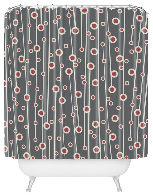 ... Branch Shower Curtain - Midcentury - Shower Curtains - by DENY Designs