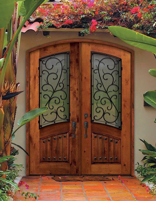 Mediterranean front doors for Double opening front doors