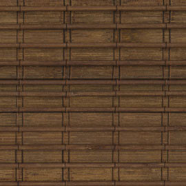 Blinds.Com Brand Premium Woven Wood Shade in Espresso - Tropical - Roman Shades - by Blinds.com