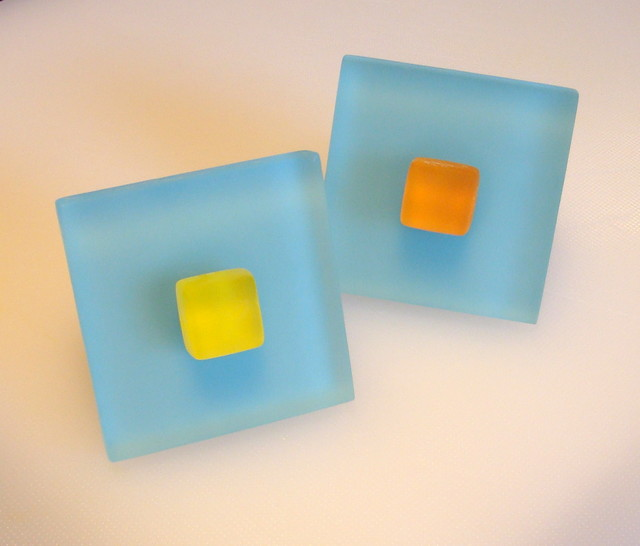 Turquoise Beach Glass Tile Cabinet Pull Knob Hardware - Beach Style - Cabinet And Drawer Knobs ...
