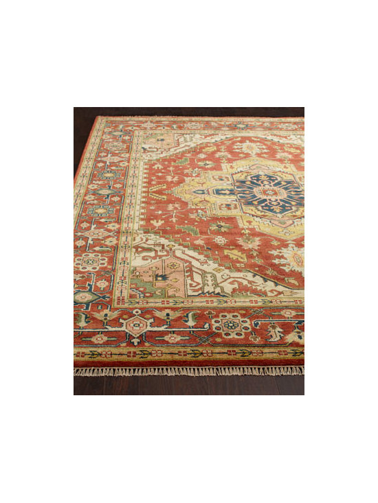 "Safavieh - Safavieh ""Calyssa"" Serapi Rug - Serapi-style rug offers a classic Indian pattern in rust tones for vintage appeal. Hand knotted of wool. Sizes are approximate. Imported. See our Rug Guide for tips on how to measure for a rug, choosing weaves and patterns, and more. (Unfortu..."