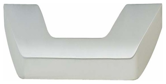 Hafele: Handle: Zinc: Chrome Matt: M4: Center To Center 128/160mm contemporary-cabinet-and-drawer-handle-pulls