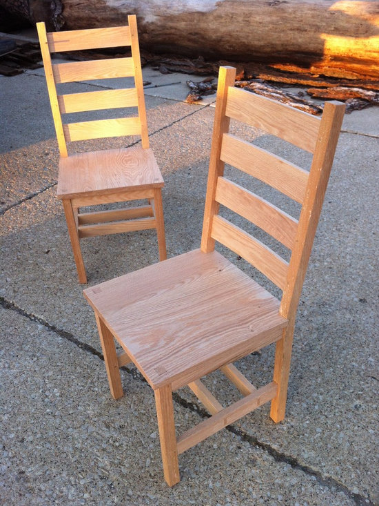 Past Projects - red oak dining chairs.  solid wood, mortise and tenon joinery