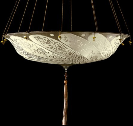 Silk Scudo Saraceno Fortuny® Light traditional-chandeliers